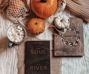 autumn, pumpkin, and books image