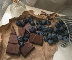 chocolate, food, and blueberry image