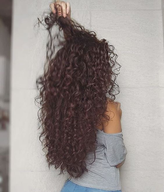 curly, hair, and brunette image