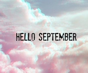 September, hello, and sky image
