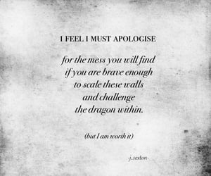 am, apologize, and brave image