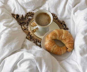 coffee, croissant, and breakfast image