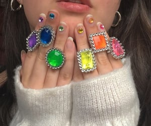 aesthetic, colorful, and girl image