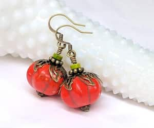 etsy, jack o lantern, and fall earrings image