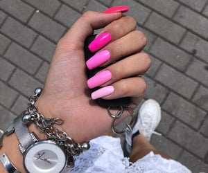 nails, pink, and pinknails image