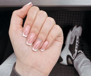 french, nails, and nike image