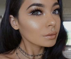 beauty, eyelashes, and eyes image
