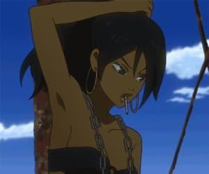 anime, black, and blue image