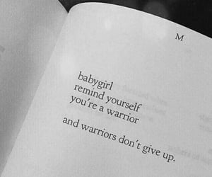 quotes, warrior, and book image