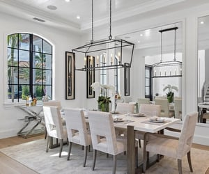 decor, decoration, and dinning room image