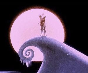 jack skellington, moon, and moonlight image