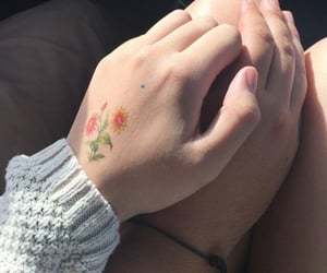couple, lesbian pics, and hands image