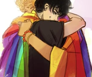 pride, lgbt, and percy jackson image