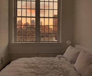 bedroom, home, and sunset image