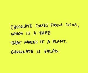 chocolate, funny, and salad image