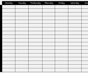planner, time, and weekly planner image