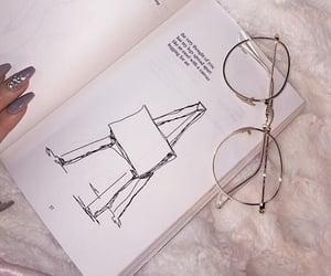 book, glasses, and nails image