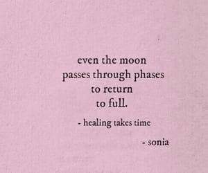 quotes, moon, and healing image