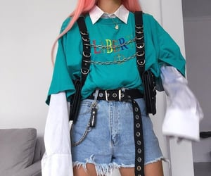 alternative, belt, and casual image