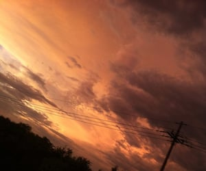 clouds, orange, and peachy image