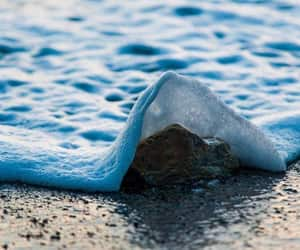 waves, ocean, and beach image