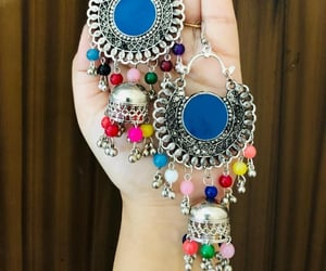 beautiful, jewellery, and jhumkas image