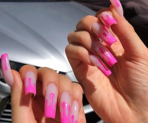 drip, pink, and girly image