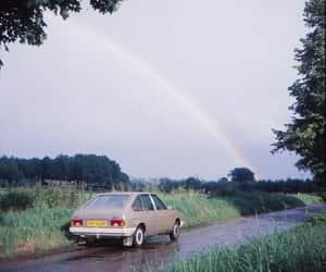 car, rainbow, and 70s image