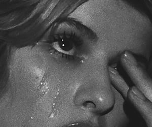 black and white, aesthetic, and cry image