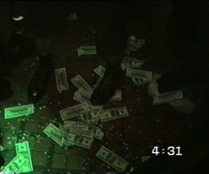 grunge, money, and dark image