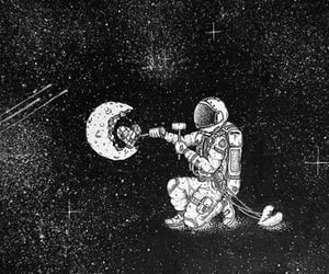astronaut, stars, and space image