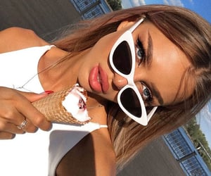 girl, beauty, and ice cream image