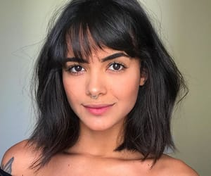 bangs, beauty, and short hair image