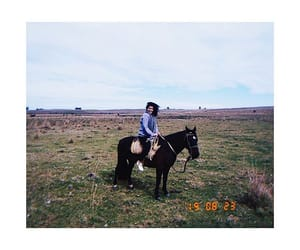farm, girl, and horse image