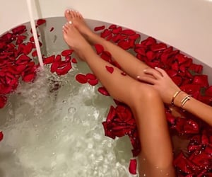 aesthetic, red, and bath image