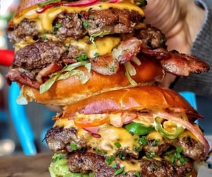 burger, fast food, and food image