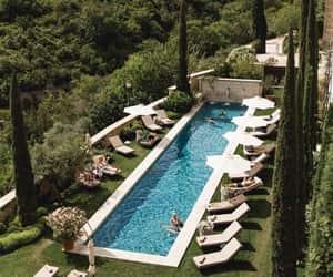 beautiful, fashion, and pool image
