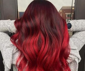 hair, hairstyle, and red hair image