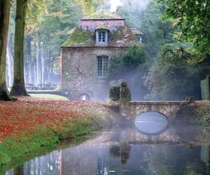 architecture, bridge, and historical house image
