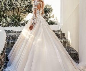 bride, wedding dress, and beautiful image