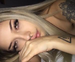 aesthetic, sad girl, and tattoo image