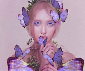 blue, leesunmi, and butterfly image