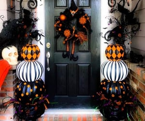 black, decor, and Halloween image