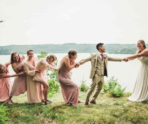 bride, nature, and bridesmaid image