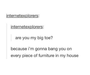 funny, pick up lines, and tumblr image