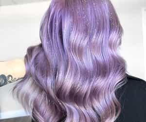 glitter hair, purple haircolor, and 🔮 image