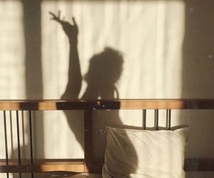 girl, shadow, and morning image