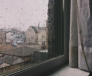 Houses, window, and cold outside image
