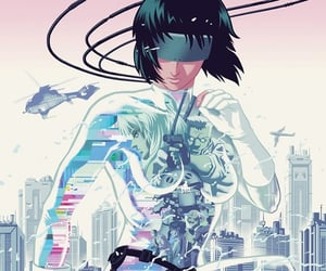 anime, art, and ghost in the shell image