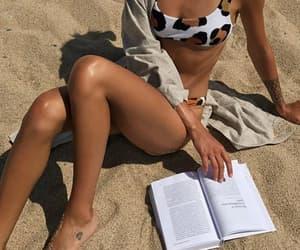 beach, ready, and bikini image
